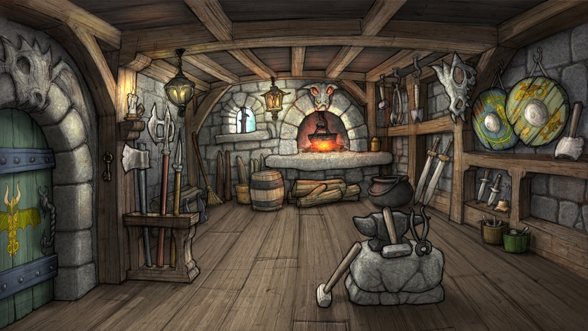 Blacksmith's shop for How to Train Your Dragon