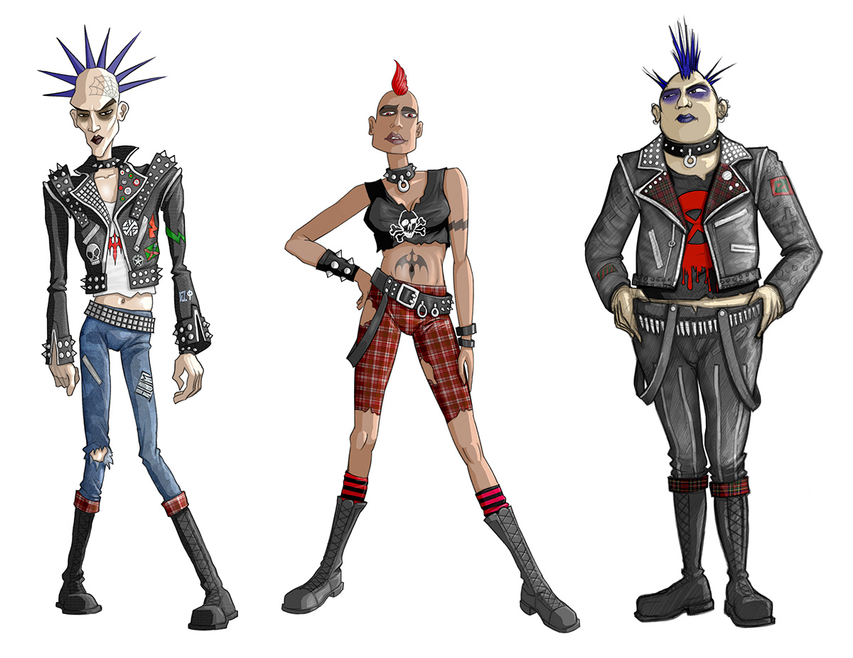 Character concepts for The Urbz: Sims in the City
